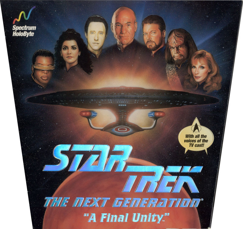 "Star Trek: The Next Generation - ""A Final Unity"" DOS Front Cover"