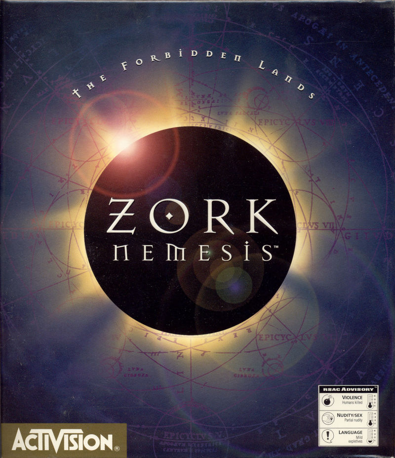 Zork Nemesis: The Forbidden Lands DOS Front Cover
