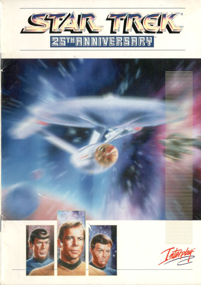 star trek 25th anniversary 1994 amiga box cover art mobygames rh mobygames com star trek 25th anniversary game manual Star Trek TNG Memes