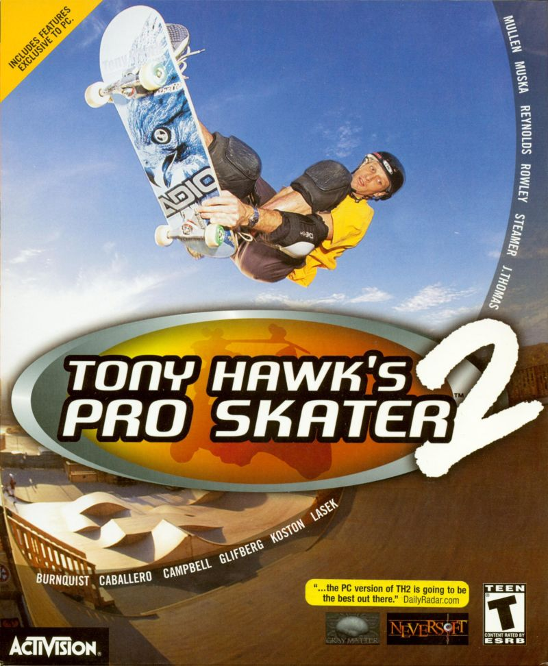 Tony Hawk's Pro Skater 2 Windows Front Cover
