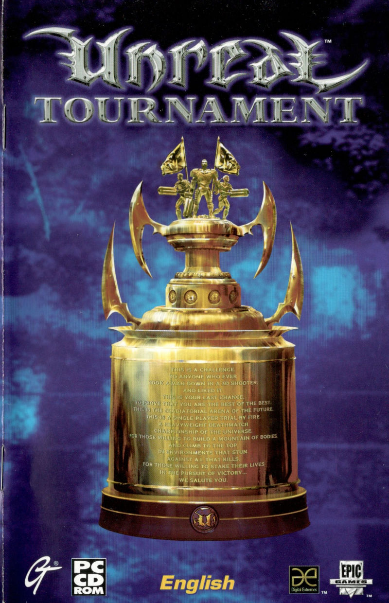 Unreal Tournament Windows Manual Front