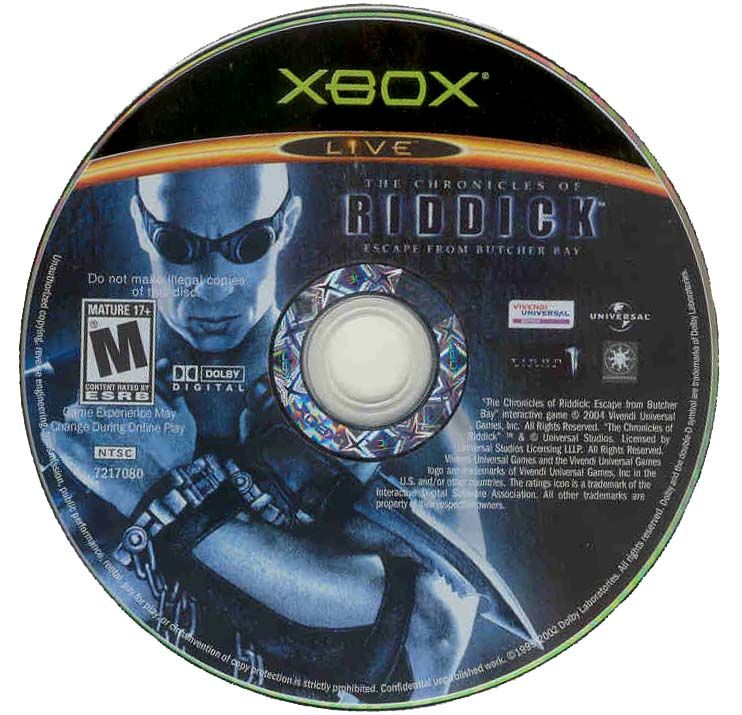 The Chronicles of Riddick: Escape from Butcher Bay Xbox Media