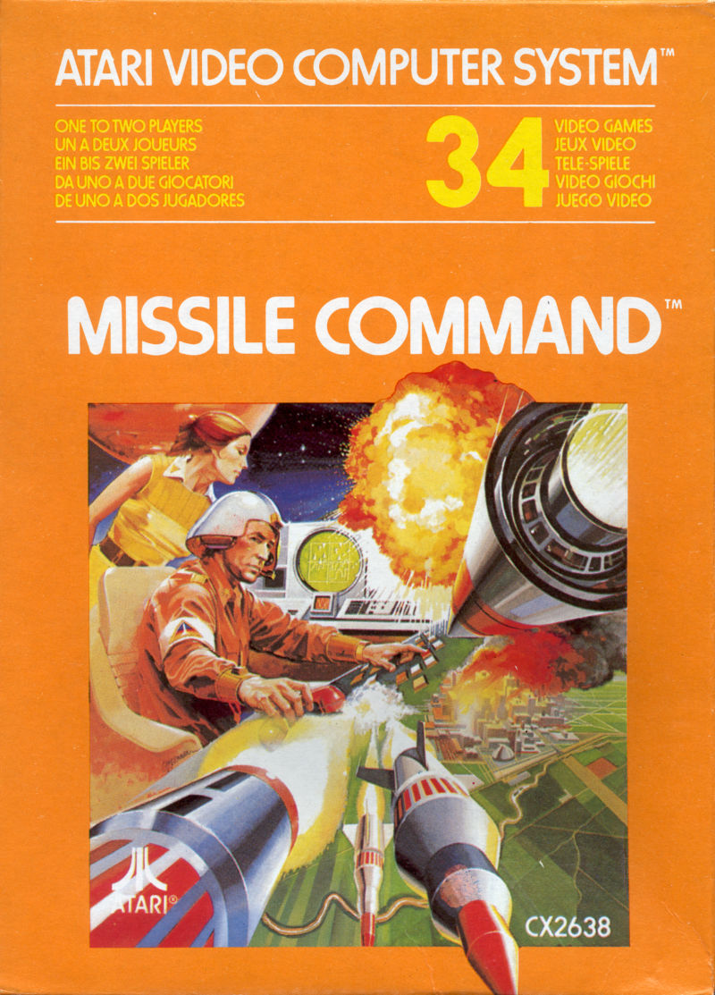 Missile Command Atari 2600 Front Cover