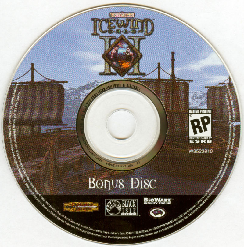 Icewind Dale: The Ultimate Collection Windows Media Icewind Dale II Bonus Disc