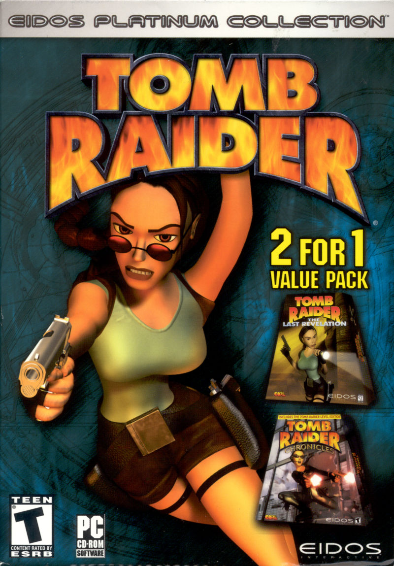 Tomb Raider 2 For 1 Value Pack 2002 Windows Box Cover Art