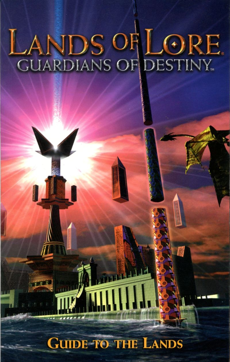 Lands of Lore: Guardians of Destiny DOS Manual Front