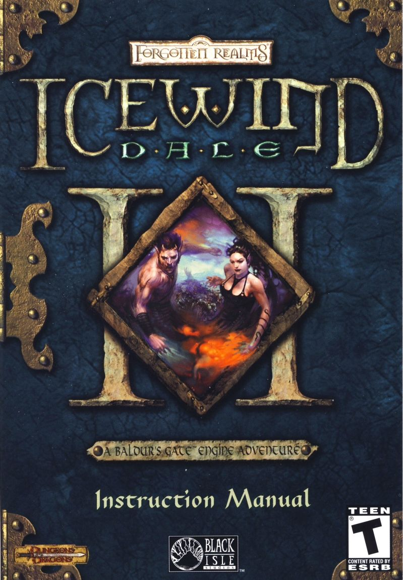 Icewind Dale II Windows Manual Front