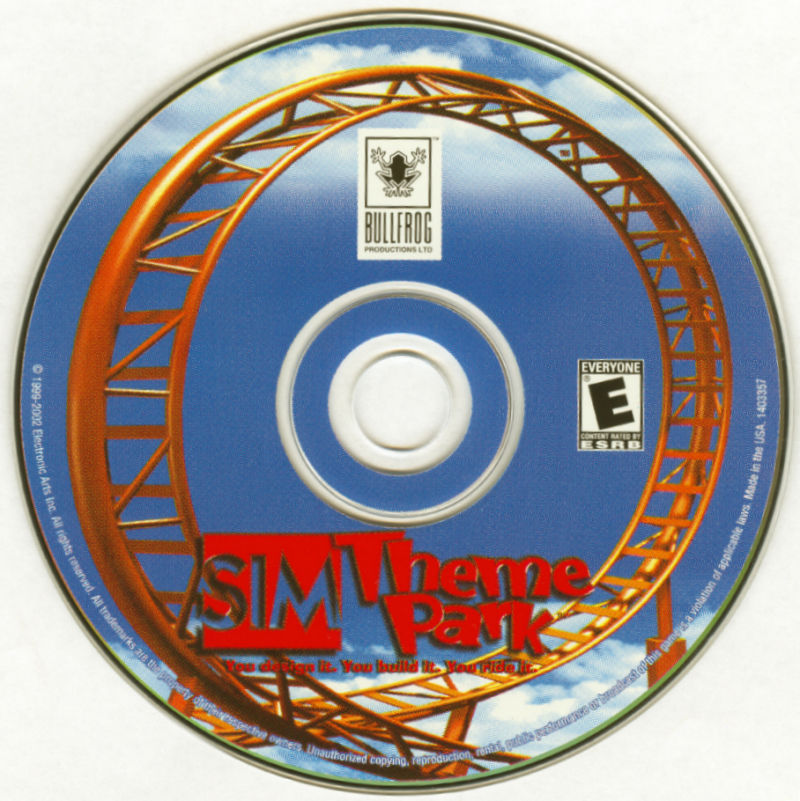 Sim Mania 2 Windows Media Sim Theme Park Disc