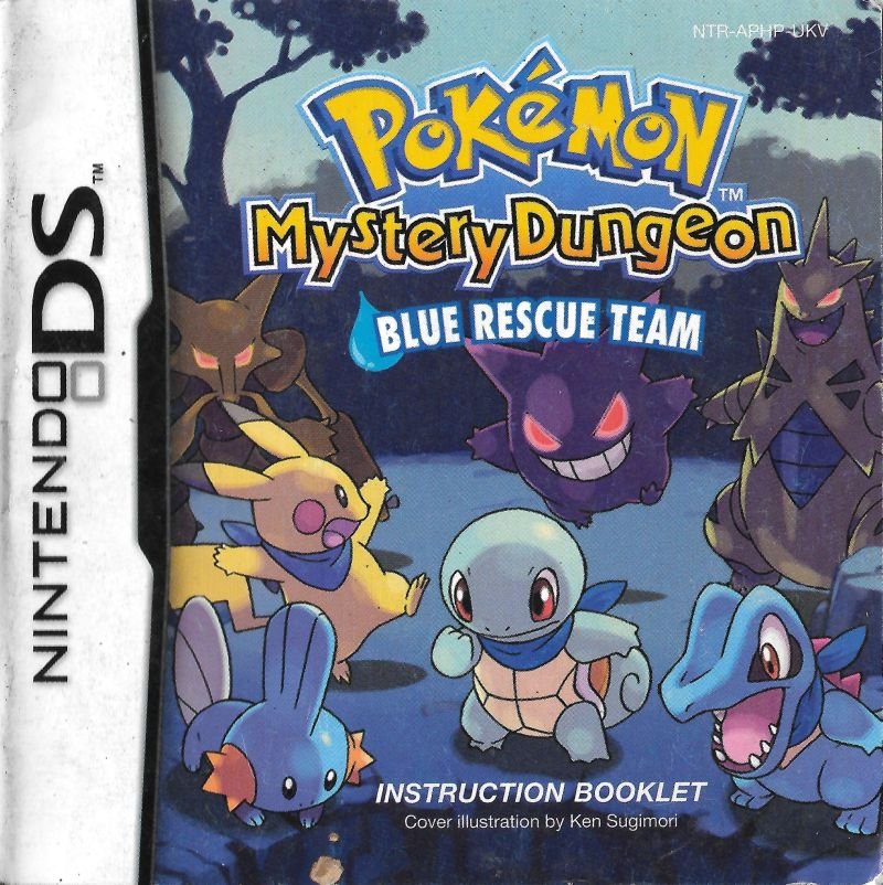 Pokémon Mystery Dungeon: Blue Rescue Team Nintendo DS Manual Front