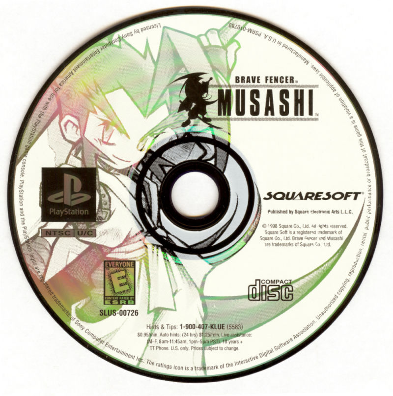 Brave Fencer Musashi PlayStation Media