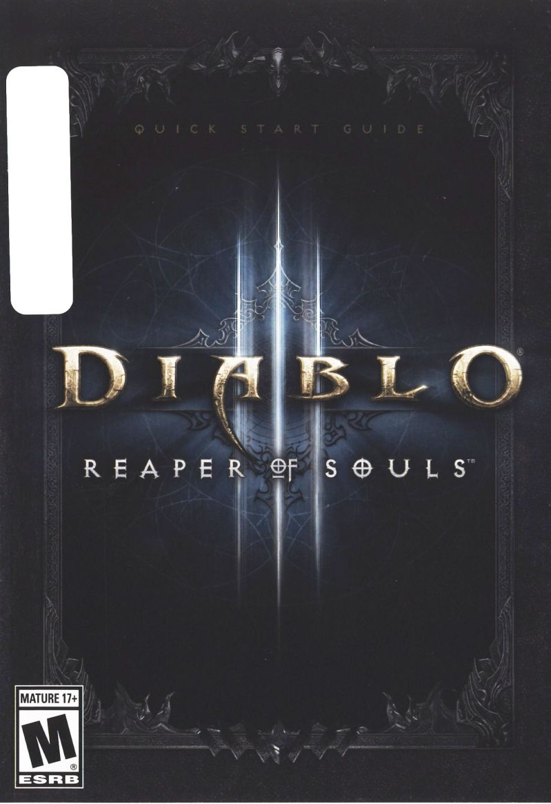 Diablo III: Reaper of Souls (Collector's Edition) Macintosh Manual Front