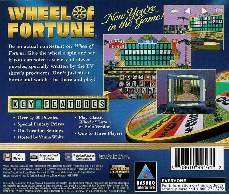 Wheel of fortune® game | ps2 playstation.