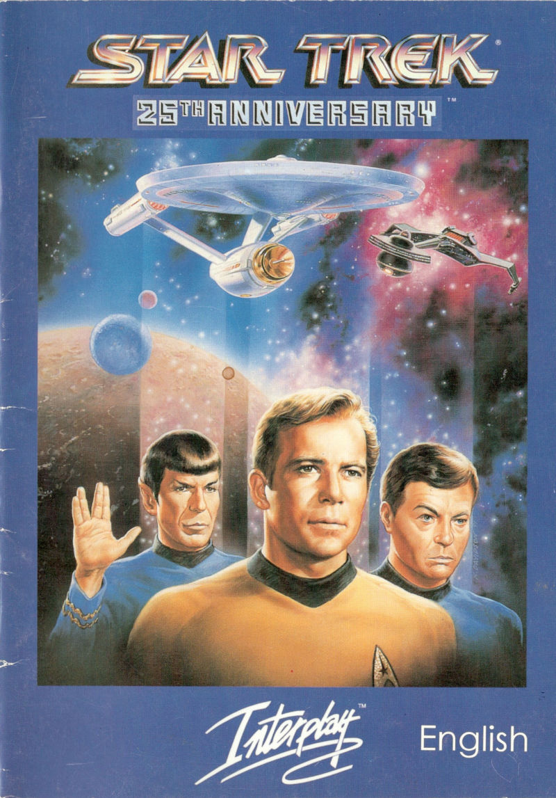star trek 25th anniversary 1992 dos box cover art mobygames rh mobygames com Star Trek Title star trek 25th anniversary game manual