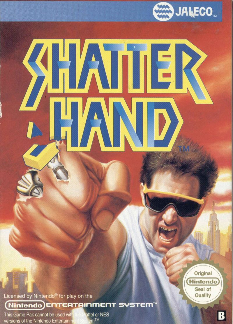 Shatterhand NES Front Cover