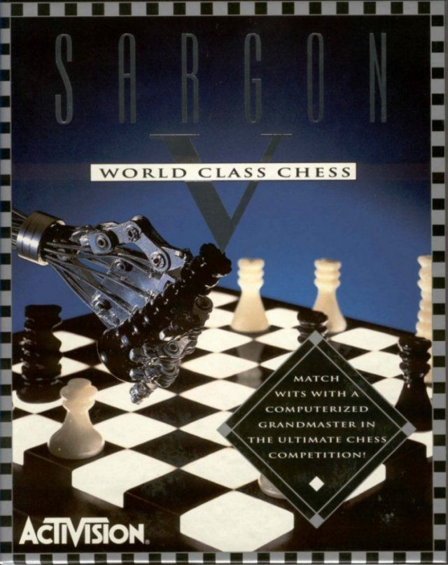 Sargon V: World Class Chess DOS Front Cover