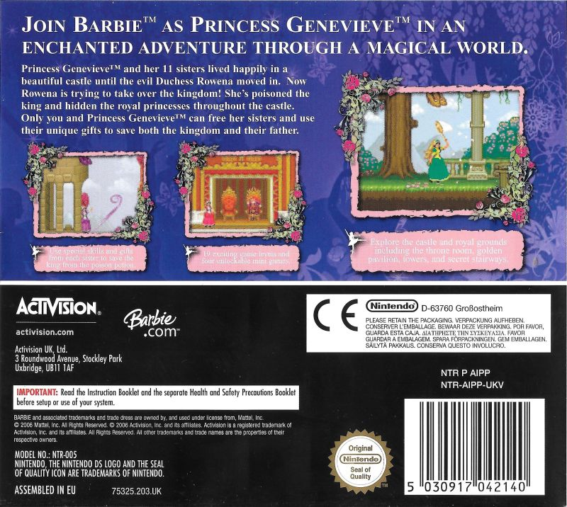 Barbie In The 12 Dancing Princesses 2006 Box Cover Art Mobygames