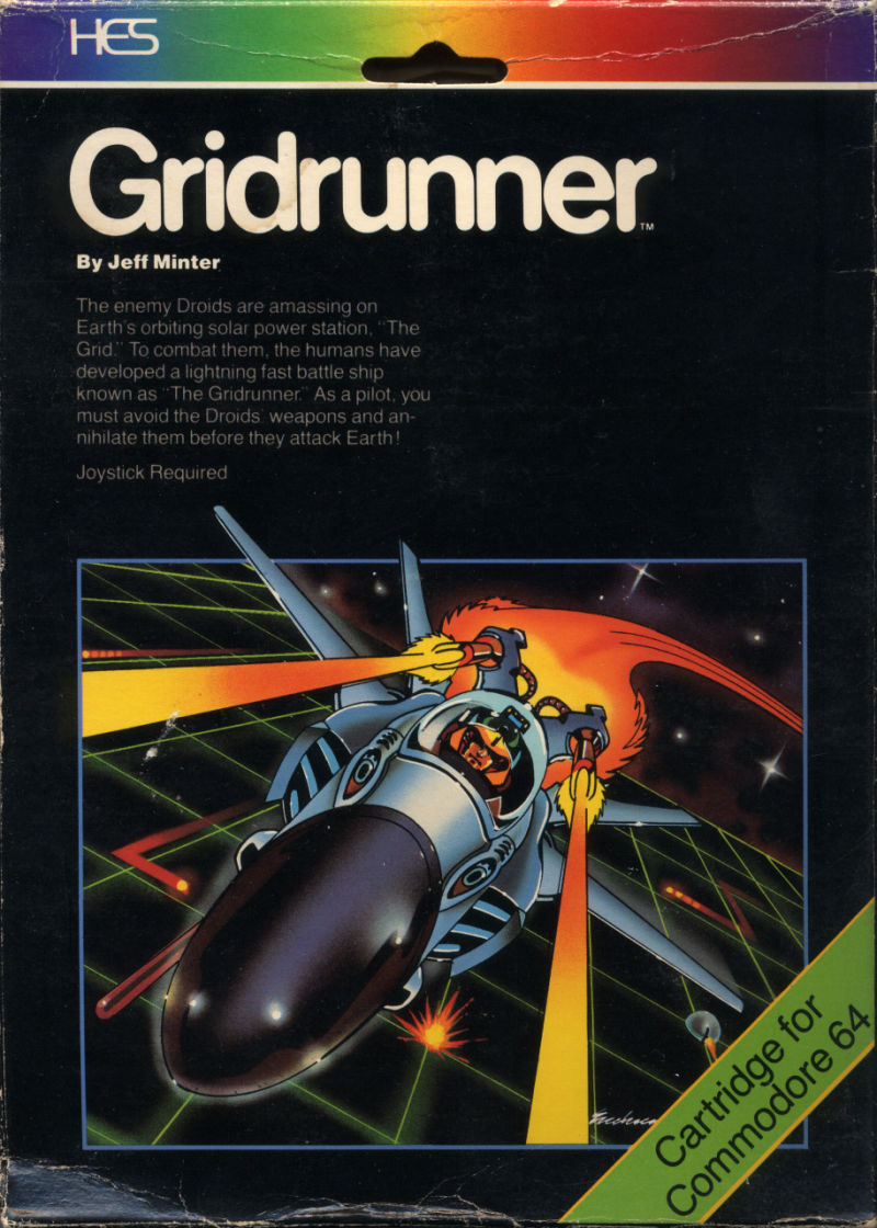 Gridrunner Commodore 64 Front Cover