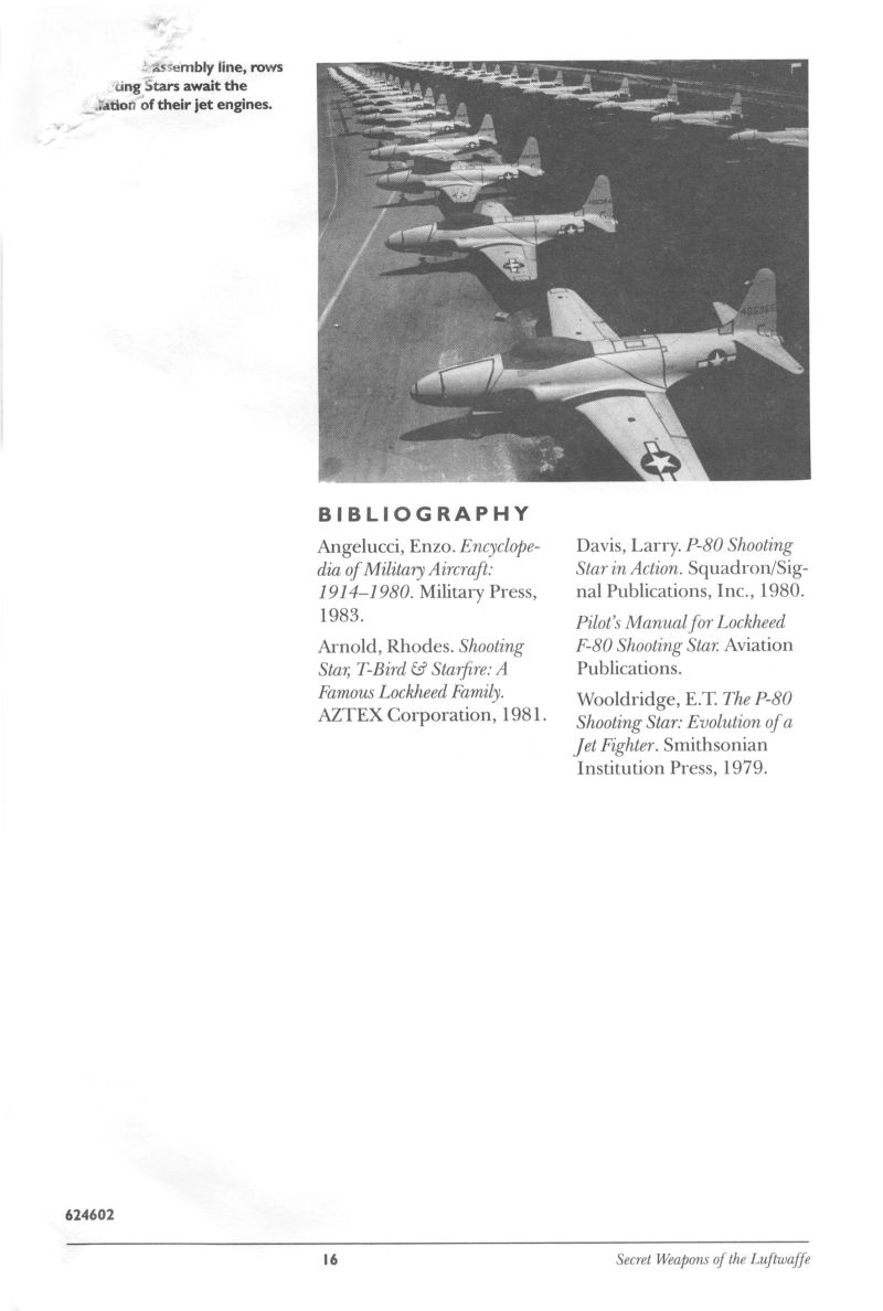P-80 Shooting Star Tour Of Duty DOS Manual Back
