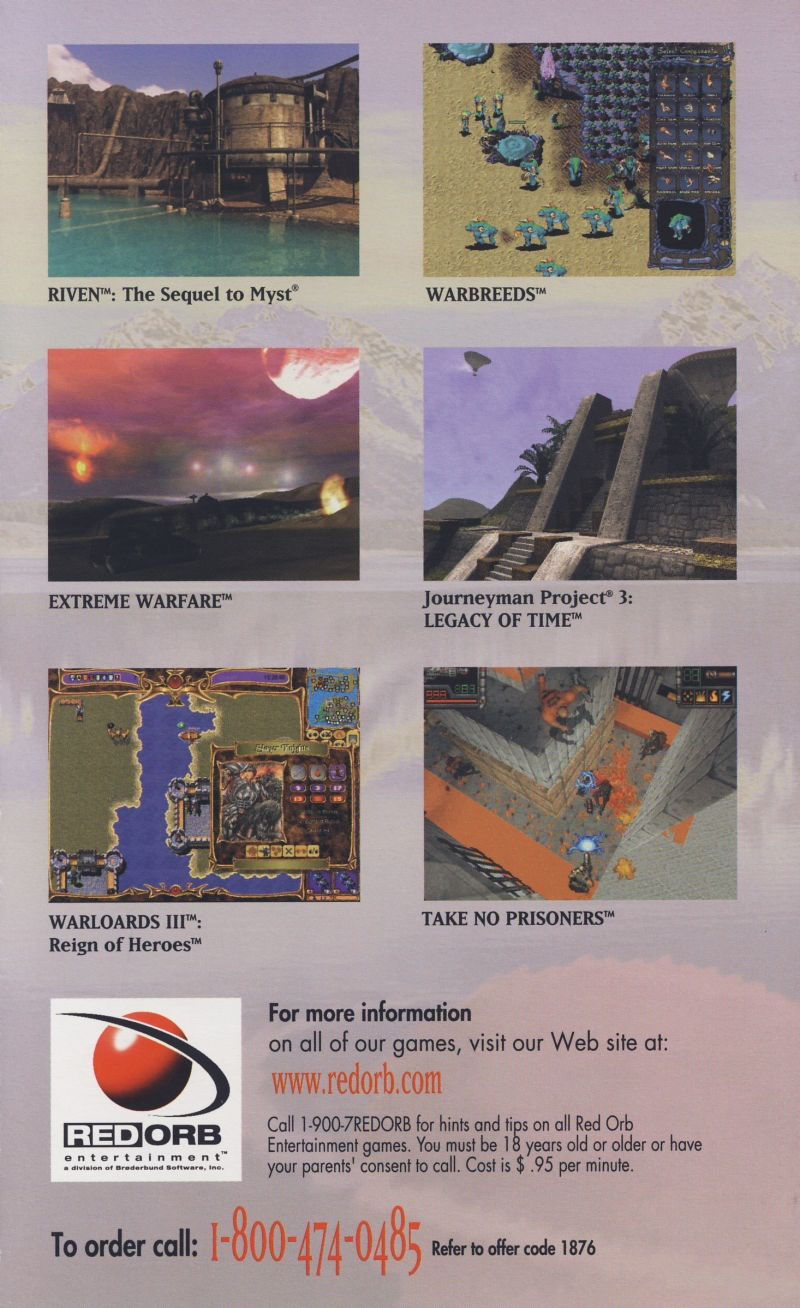 Riven: The Sequel to Myst Macintosh Advertisement Red Orb Catalog - Back