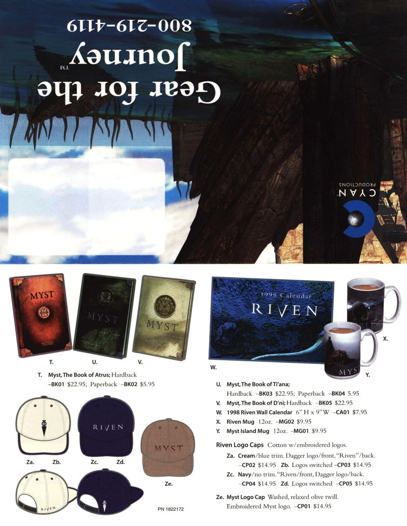 Riven: The Sequel to Myst Macintosh Advertisement Riven Merchandise - Front