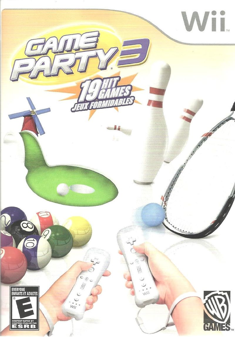 Game Party 3 Wii Front Cover