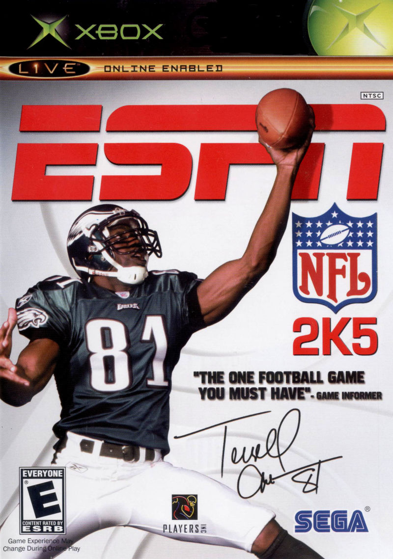 ESPN NFL 2K5 Xbox Front Cover