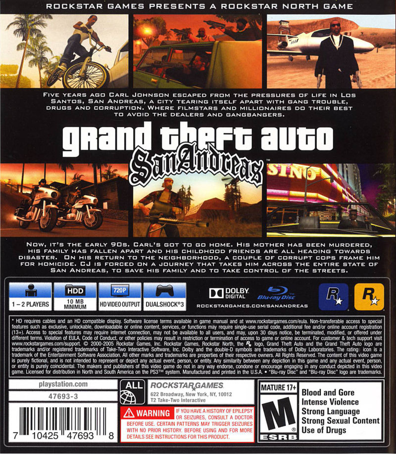 Grand Theft Auto San Andreas 2013 Android Box Cover Art Mobygames