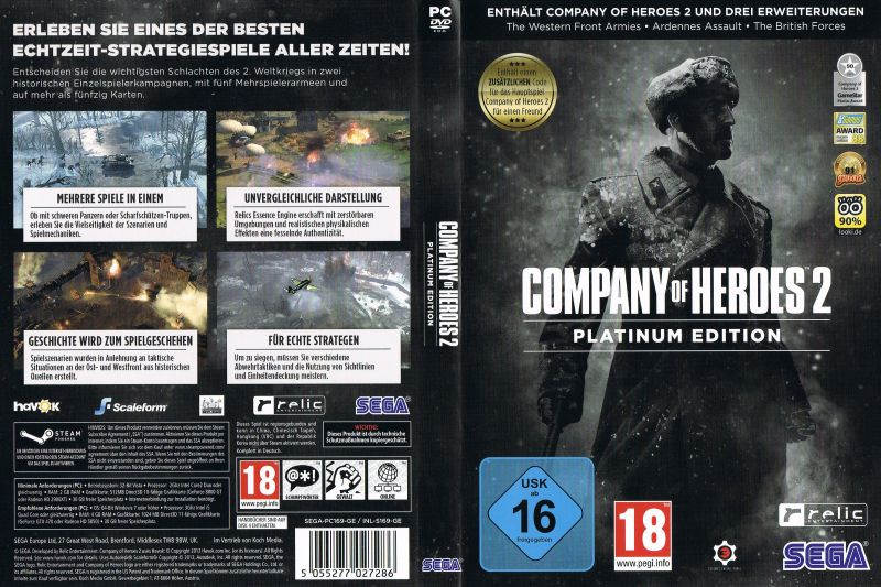 Company Of Heroes 2 Platinum Edition 2016 Windows Box Cover Art Mobygames