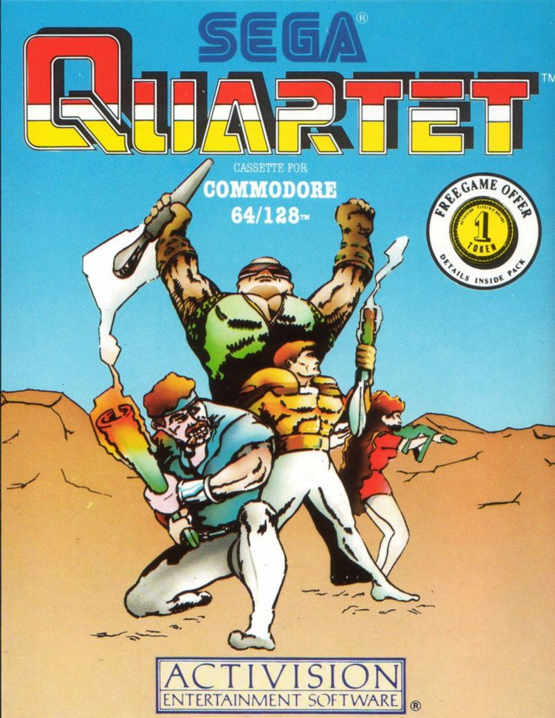 Quartet Commodore 64 Front Cover
