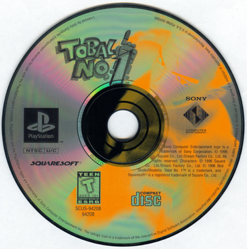Tobal No.1 PlayStation Media