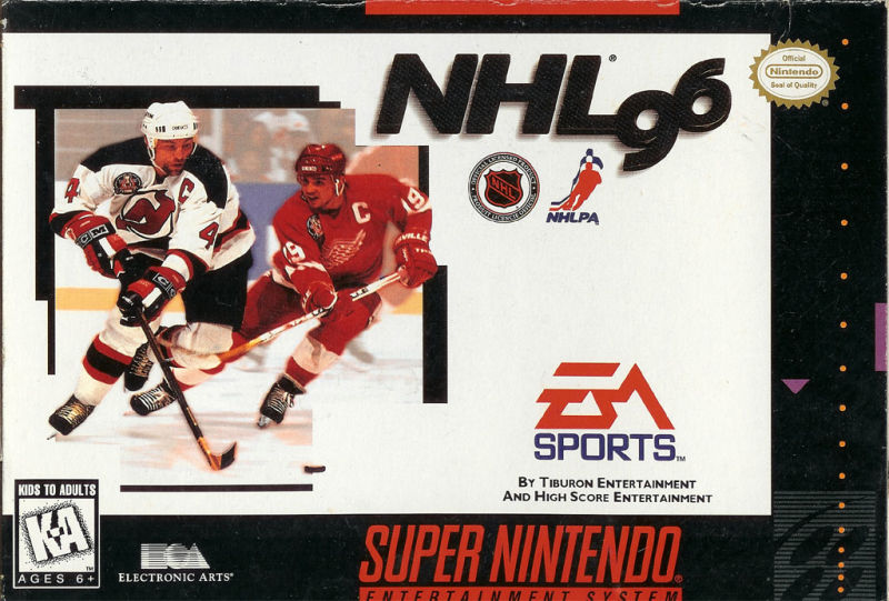 NHL 96 SNES Front Cover