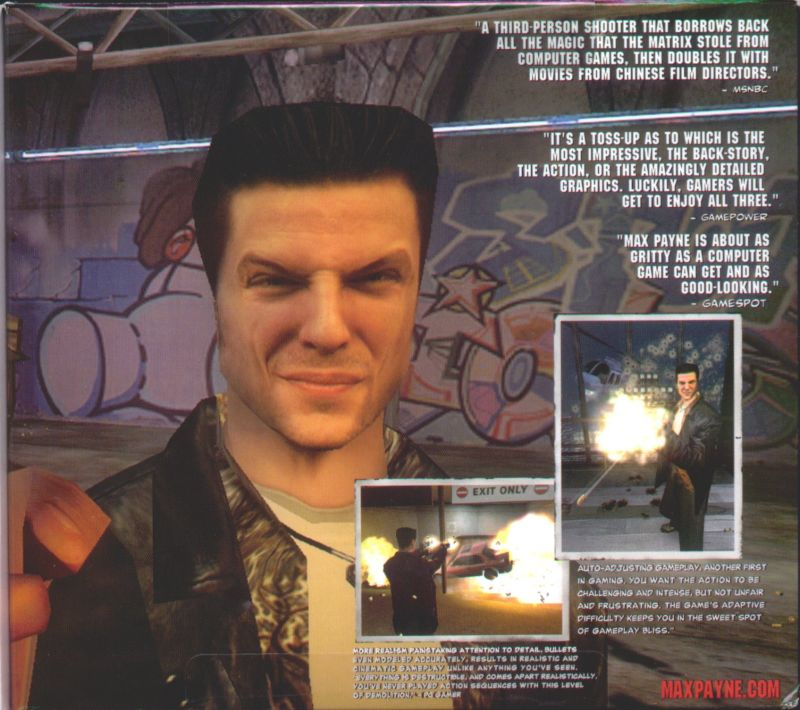 Max Payne Windows Inside Cover Right