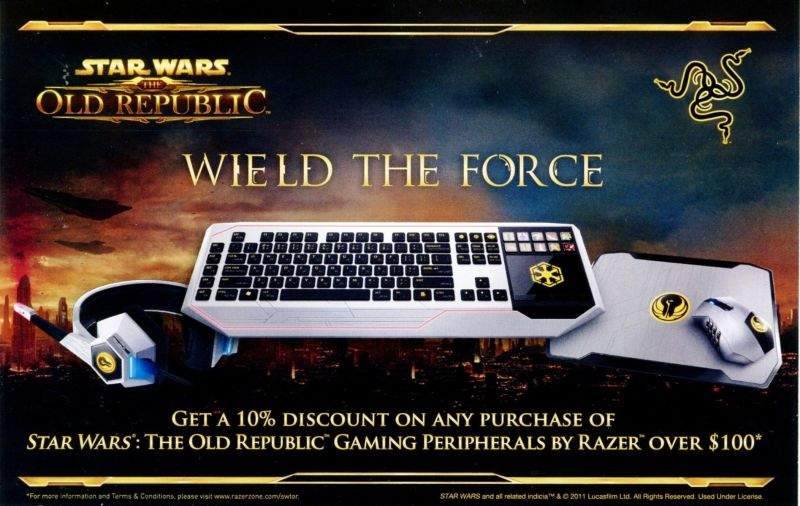 Star Wars: The Old Republic (Collector's Edition) Windows Advertisement Razor