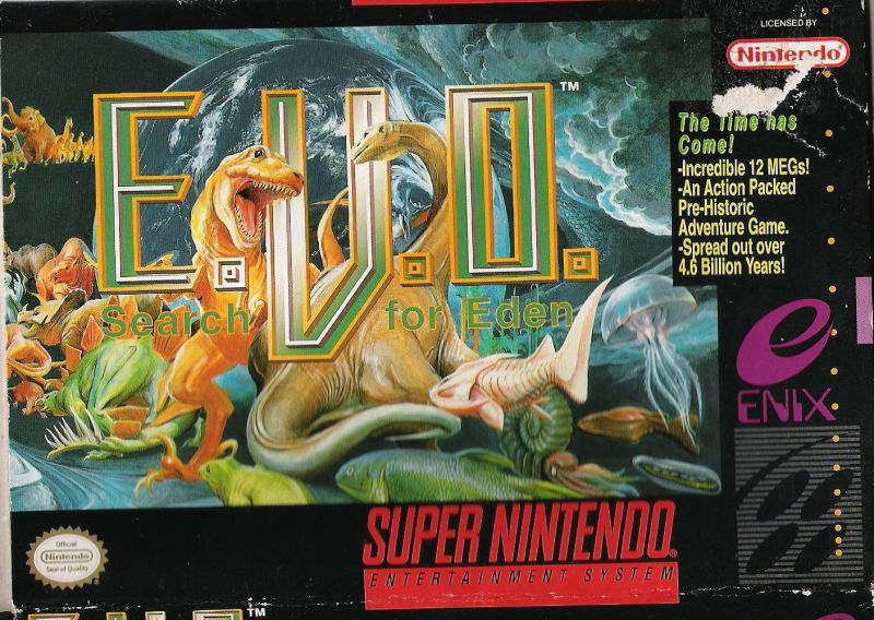 E. V. O.: Search for Eden SNES Front Cover