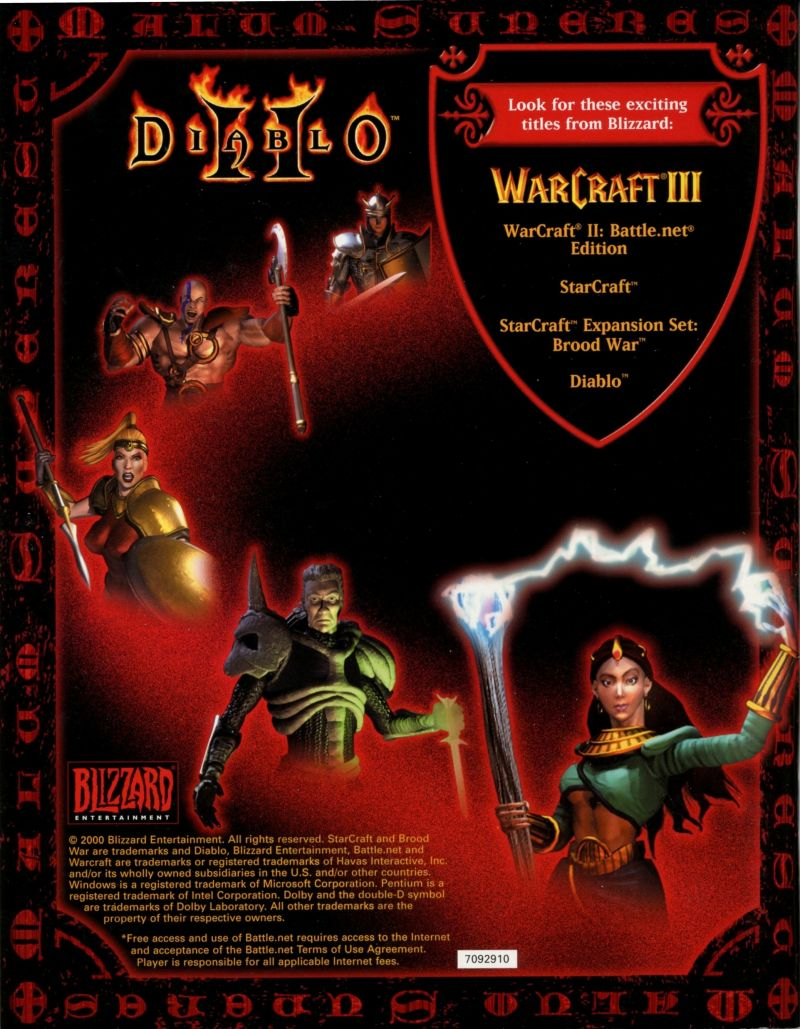 Diablo II Macintosh Manual Back