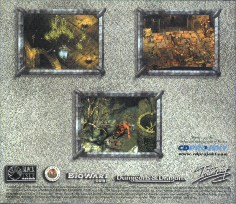 Icewind Dale Windows Other Jewel Case - Back