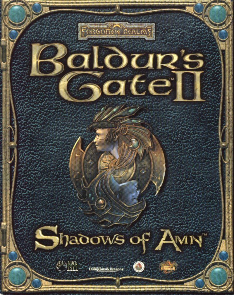 Baldur's Gate II: Shadows of Amn Windows Front Cover