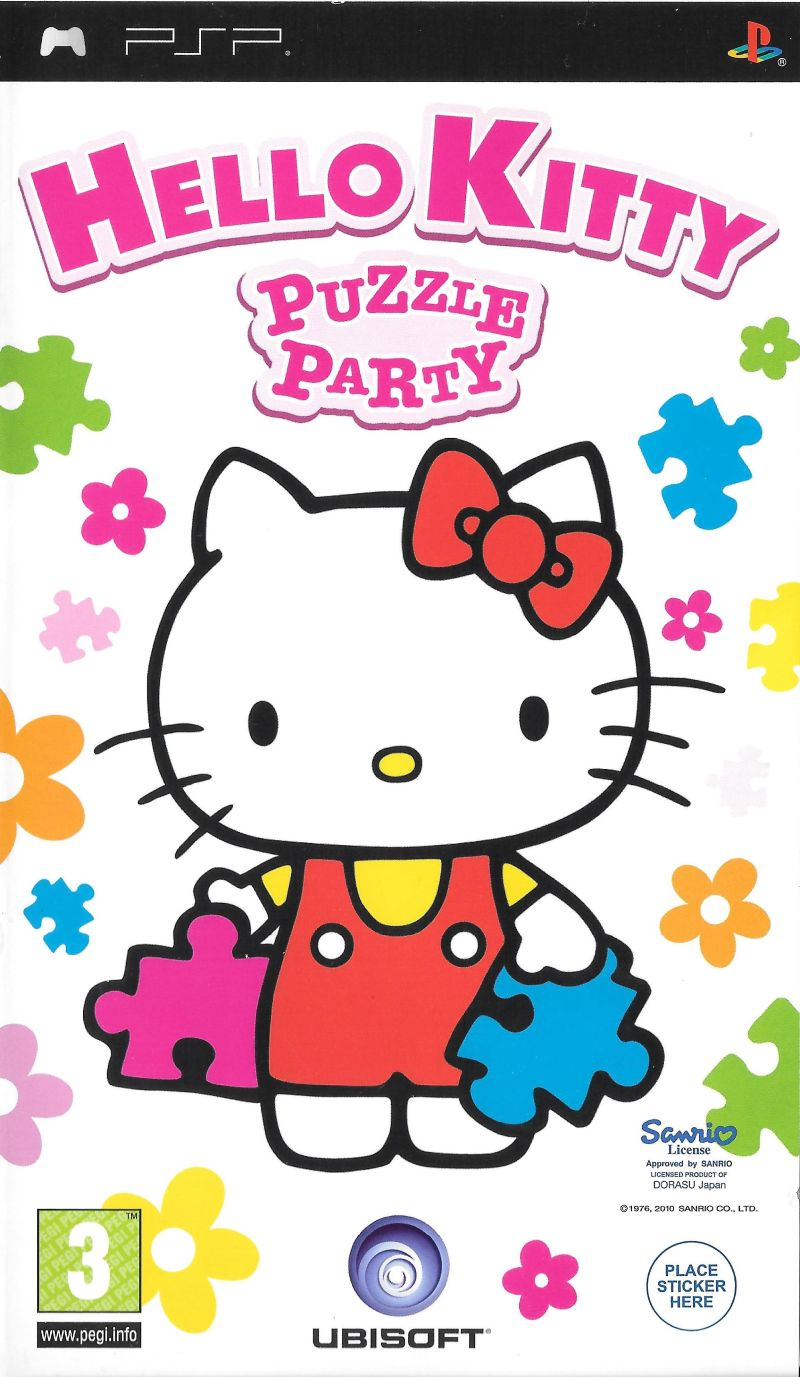 Uncategorized Games Puzzle Hello Kitty hello kitty puzzle party 2009 psp box cover art mobygames front cover