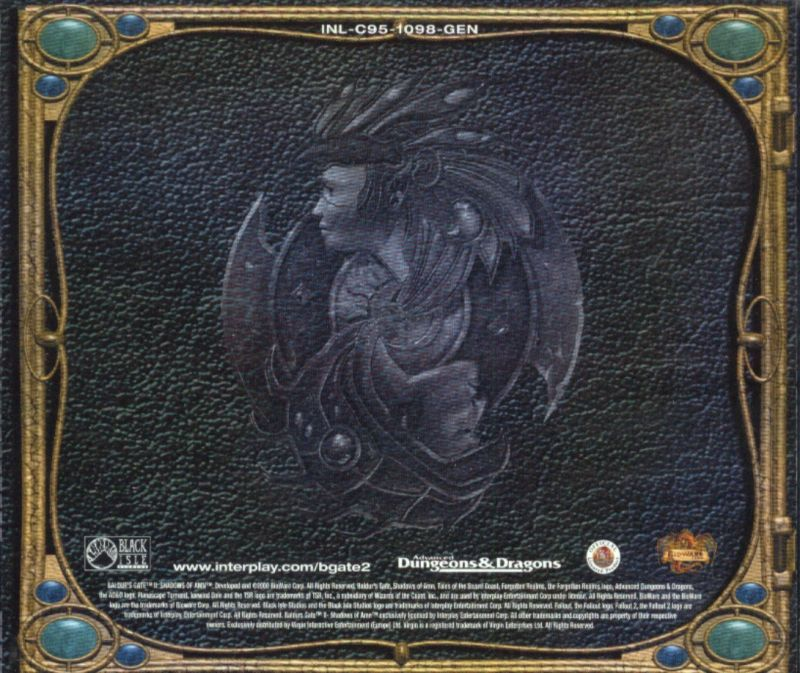 Baldur's Gate II: Shadows of Amn Windows Other Jewel Case - Back Cover