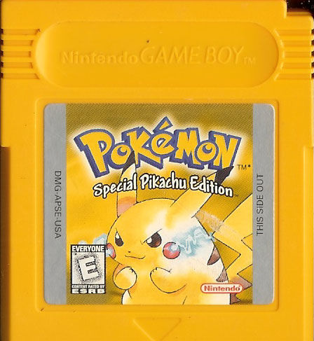 Pokémon Yellow Version: Special Pikachu Edition Game Boy Media