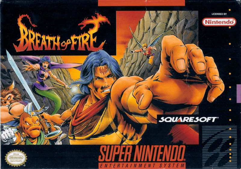 Breath of Fire SNES Front Cover