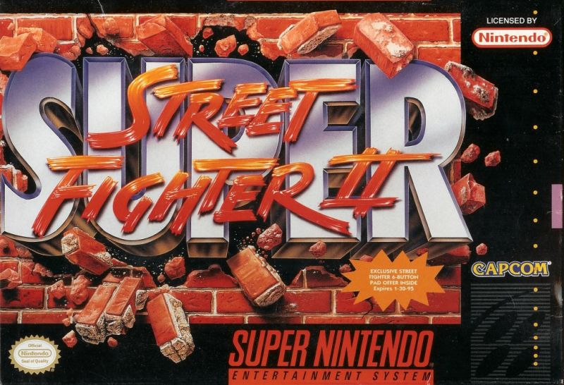 Super Street Fighter II SNES Front Cover