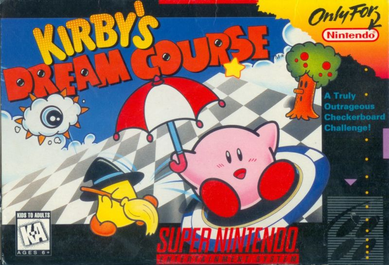 Kirby's Dream Course SNES Front Cover