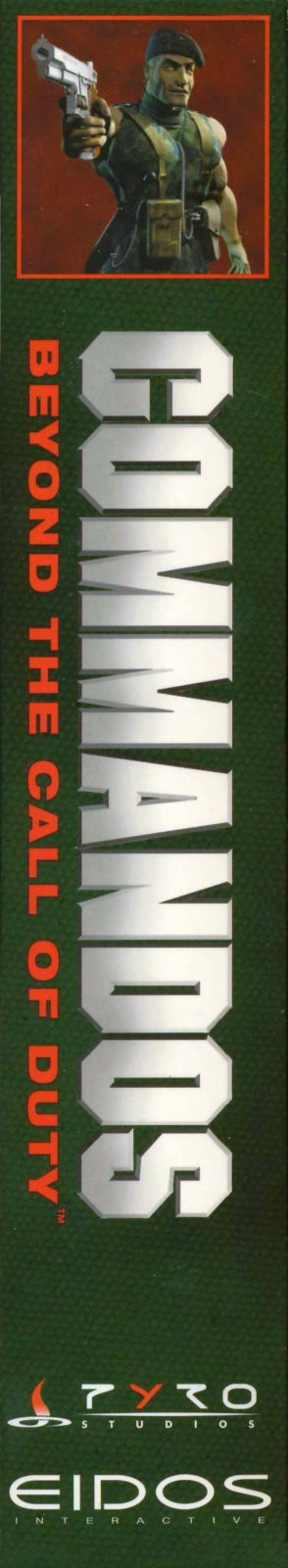 Commandos: Beyond the Call of Duty Windows Spine/Sides Left