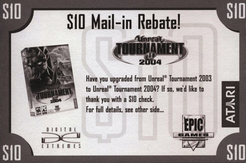 Unreal Tournament 2004 Linux Extras Rebate - Front
