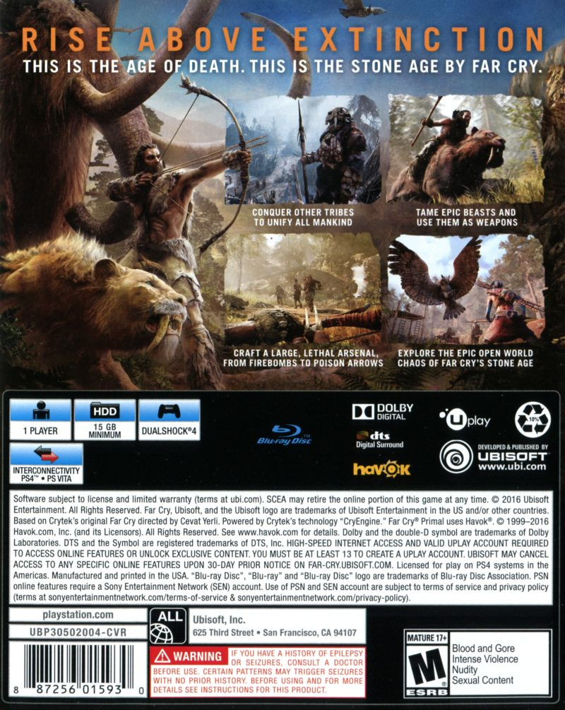Far Cry Primal 2016 Box Cover Art Mobygames