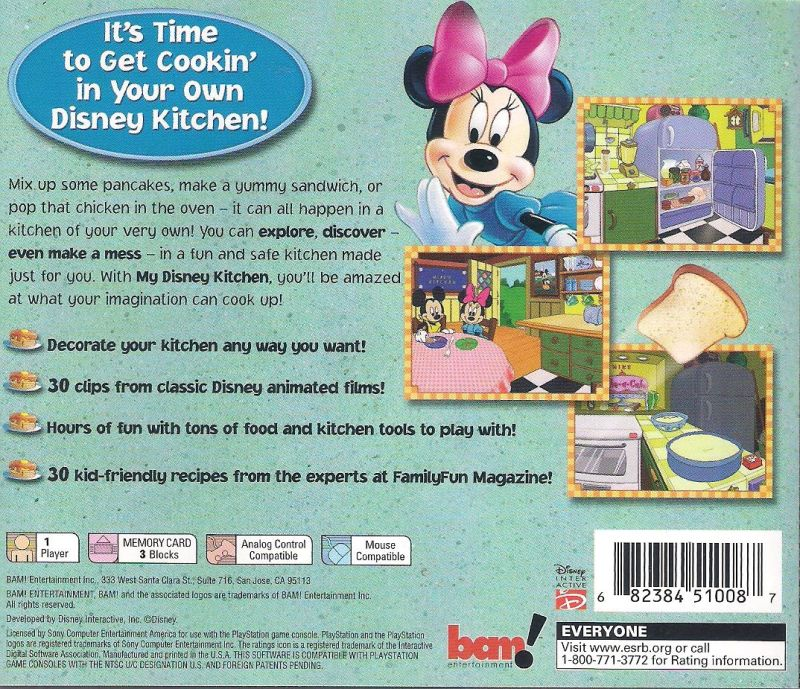 My Disney Kitchen: My Disney Kitchen (2002) Macintosh Box Cover Art