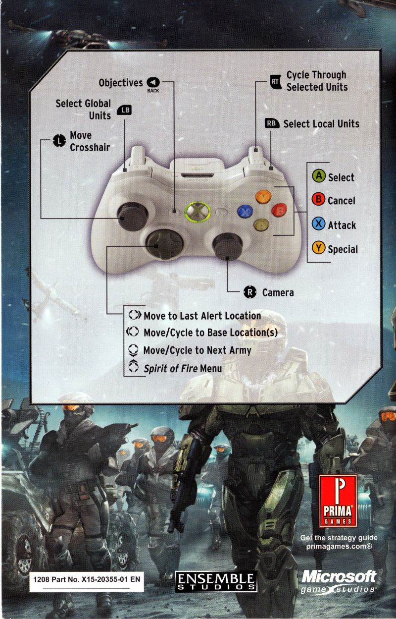 halo wars 2009 xbox 360 box cover art mobygames rh mobygames com halo wars pc manual halo wars definitive edition manual