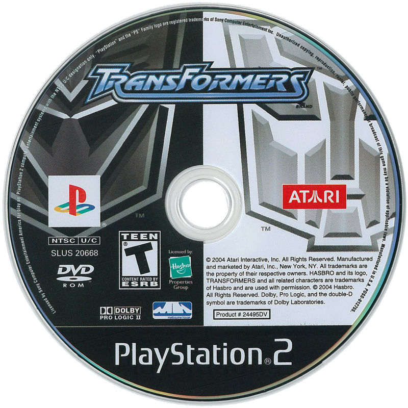 TransFormers PlayStation 2 Media