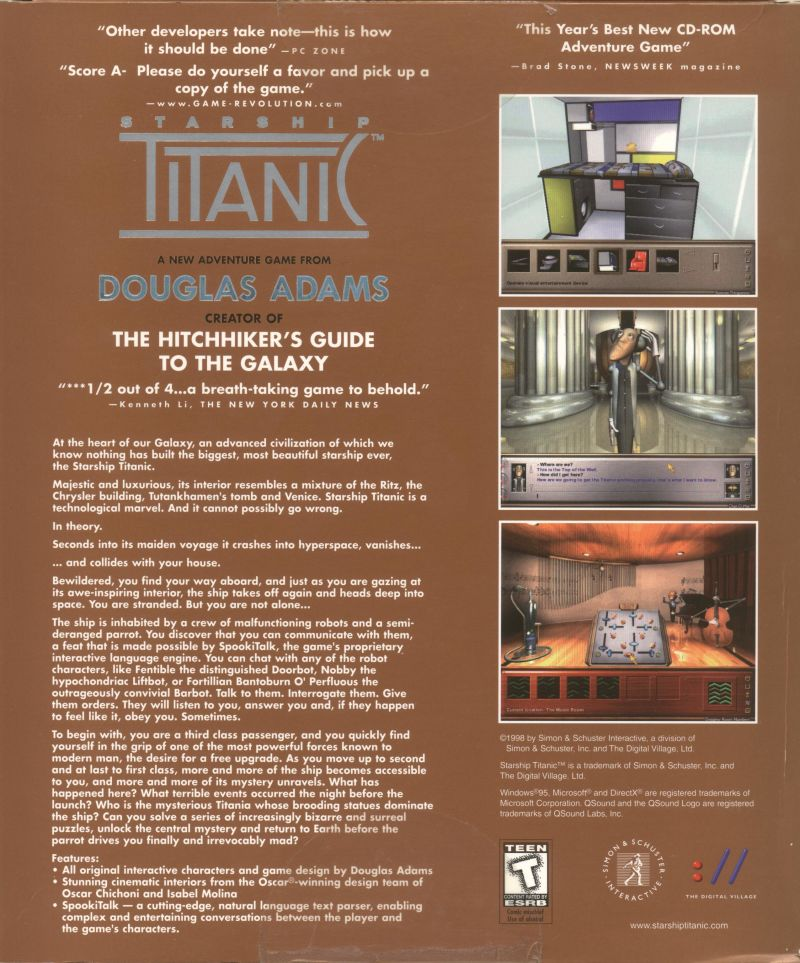 Starship Titanic Windows Back Cover
